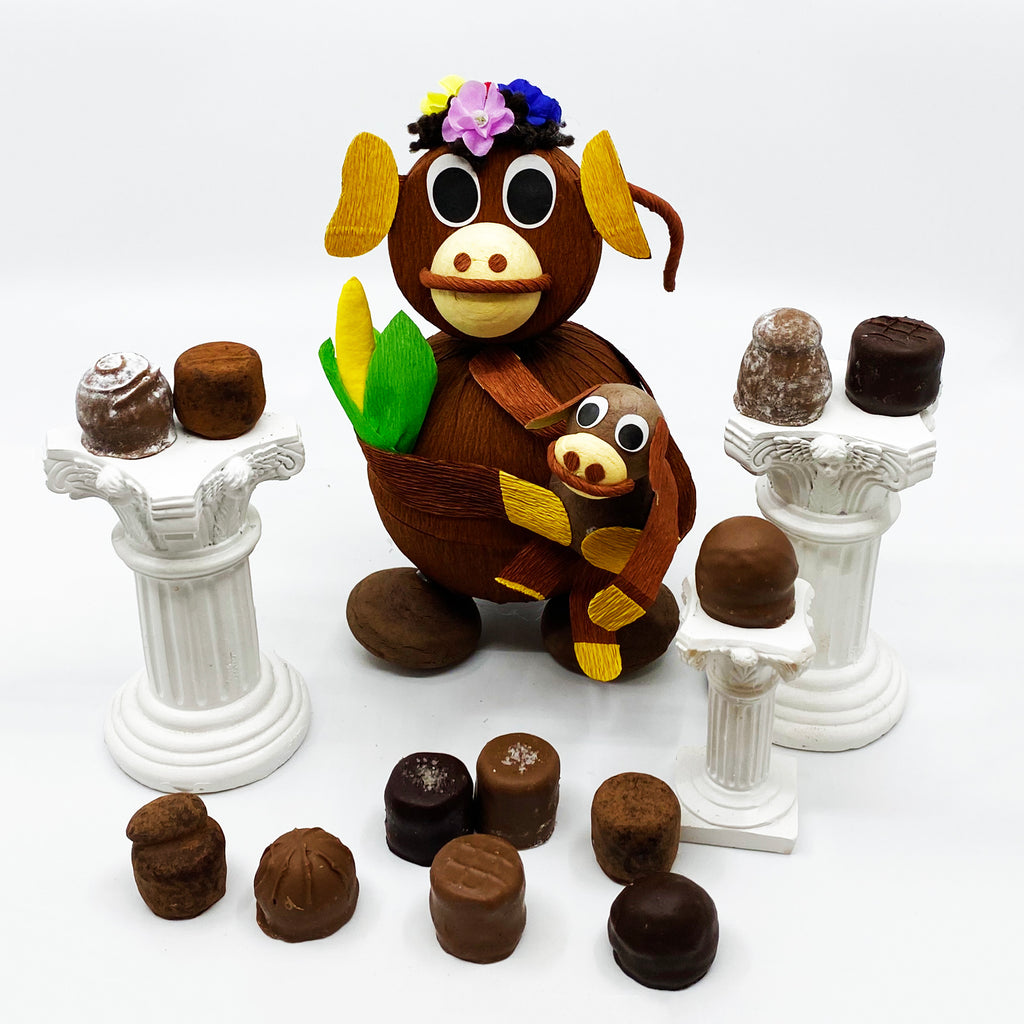 12 Piece Mommy Monkey Truffle Box
