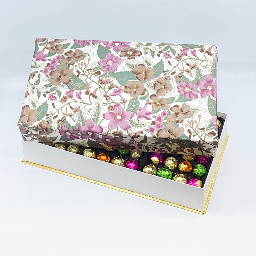 144 Piece Floral Silk Box