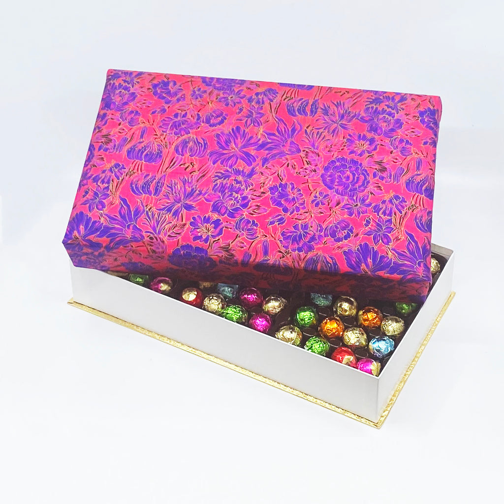 144 Piece Magenta Silk Box