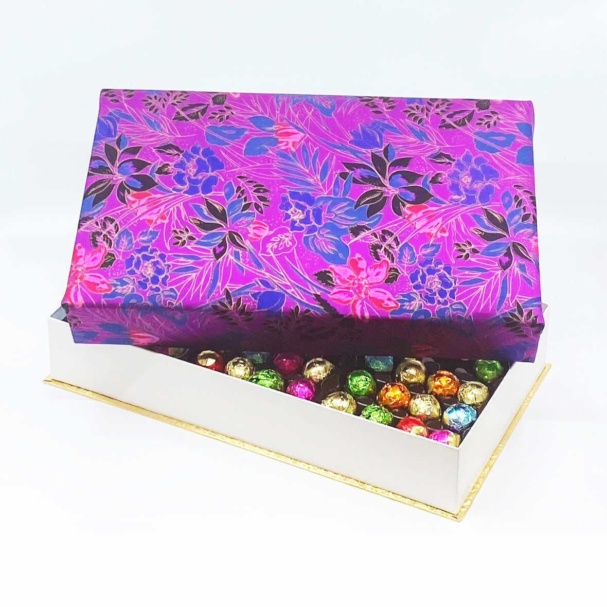 144 Piece Purple Silk Box
