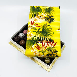 24 Piece Palm Tree Silk Box