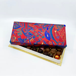 36 Piece Red and Blue Silk Box
