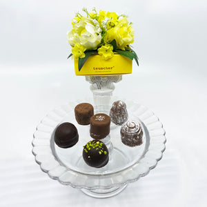 6 Piece Yellow Floral Box