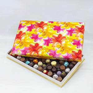 72 Piece Lillies Silk Box