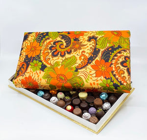 72 Piece Orange Paisley Silk Box