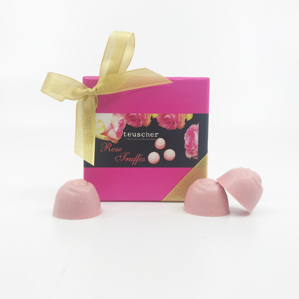 Four Piece Rose Truffle Box
