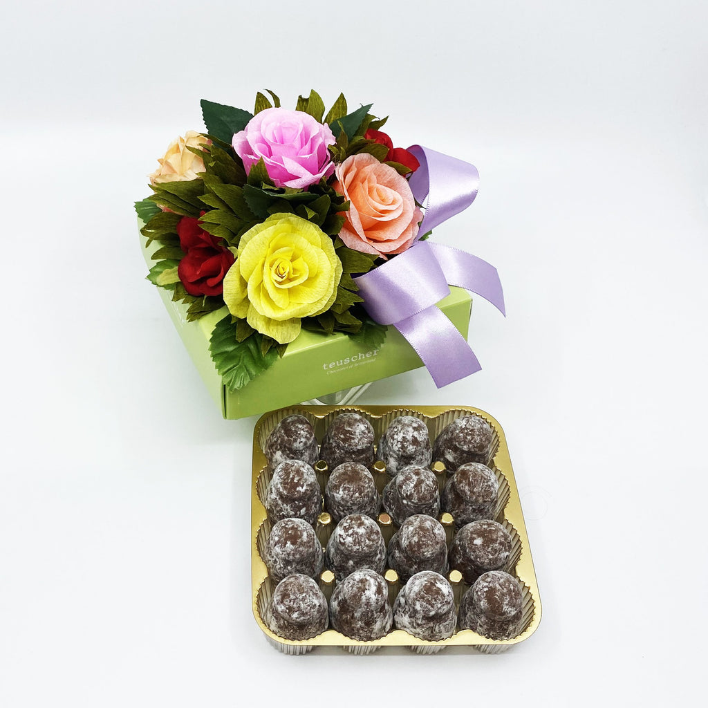 16 Piece Colorful Floral Box