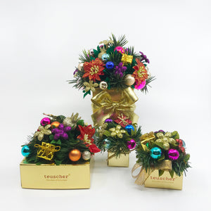 Colorful Holiday Truffle Boxes