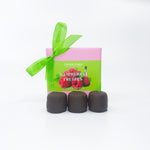 Four Piece Raspberry Liqueur Truffle Box