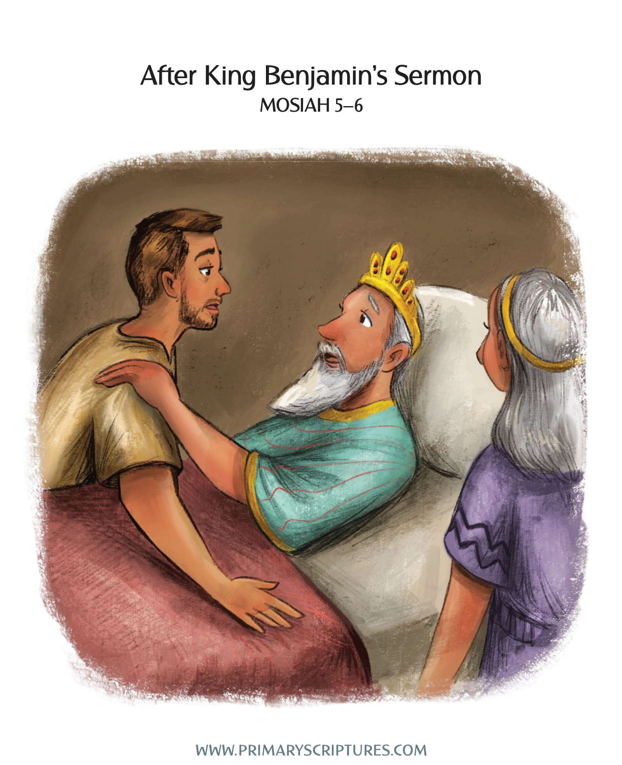 After King Benjamin's Sermon - Story & Coloring Page