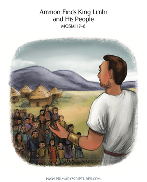 Ammon Finds King Limhi & His People — Story & Coloring Page
