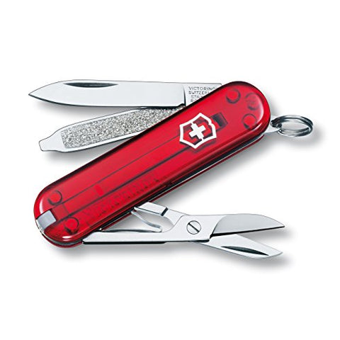 Victorinox Swiss Army Classic SD Pocket Knife, Translucent Ruby