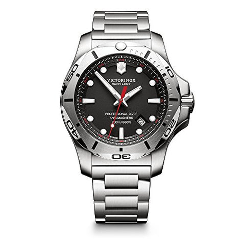 Victorinox Swiss Army Men's 'I.N.O.X.' Swiss Quartz Stainless Steel Casual Watch, Color:Silver-Toned (Model: 241781)