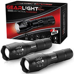 GearLight 2-Pack Tactical Flashlight