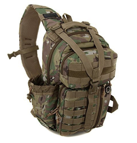 Nexpak Tactical Messenger Sling Bag Outdoor Camping Hiking Travel Backpack TL318-MLTCM Multi Camo Green