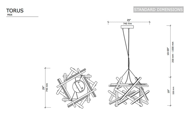 TORUS MAXI - Next Level Design Studio  - chandeliers lighting