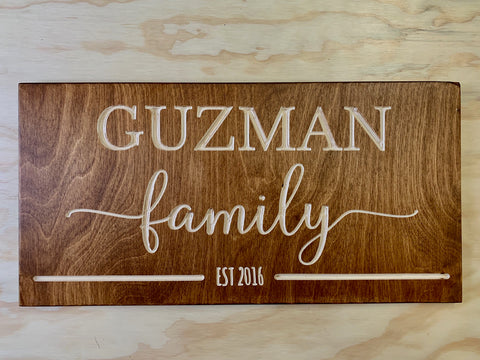 "Custom Family Signs - Wood signs 10""x20""0.5"""