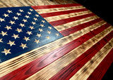 USA Wood Flag