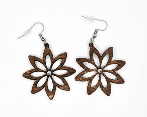 Flower Wood Earring