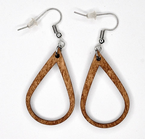 Simple Wood Earrings