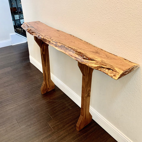 Mesquite Live Edge Entry Table