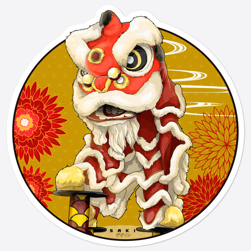 Sticker - Lion Dance - Saki Deizan