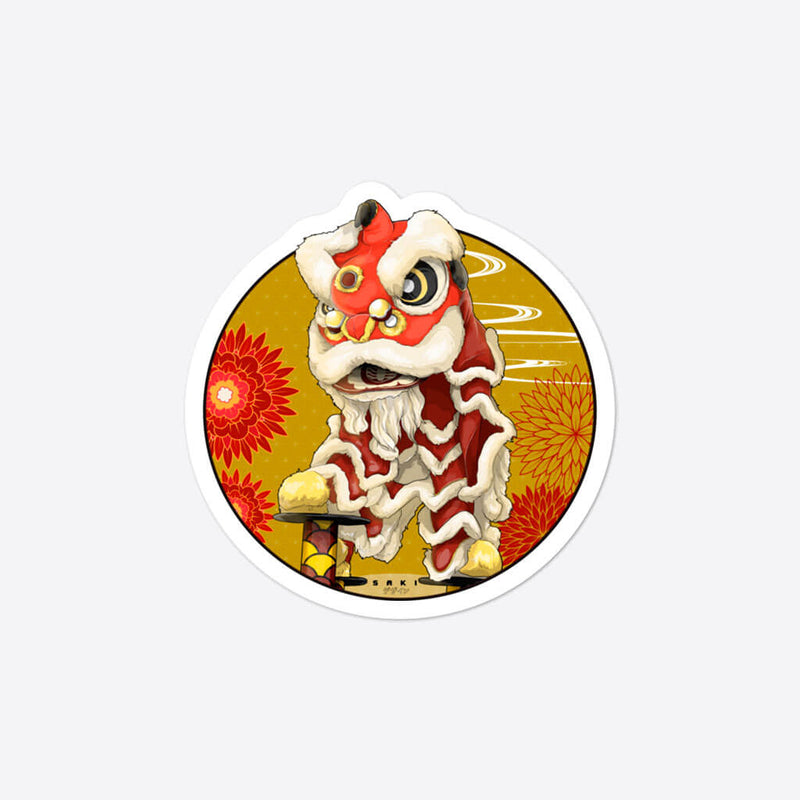 Lion Dance - Sticker