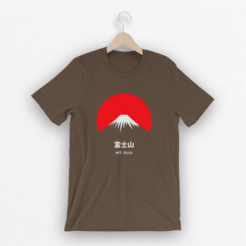 Camiseta Unisex Mt. Fuji Marrón