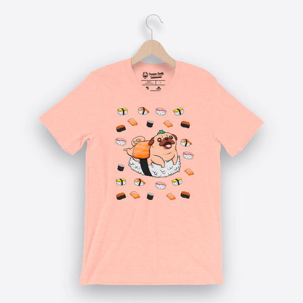 Japanese Traditional Cuisine (Camiseta Unisex) Heather Prism Peach