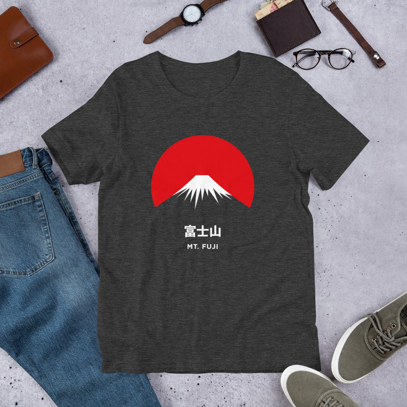 Camiseta Unisex Mt. Fuji Dark Grey Heather Diseño