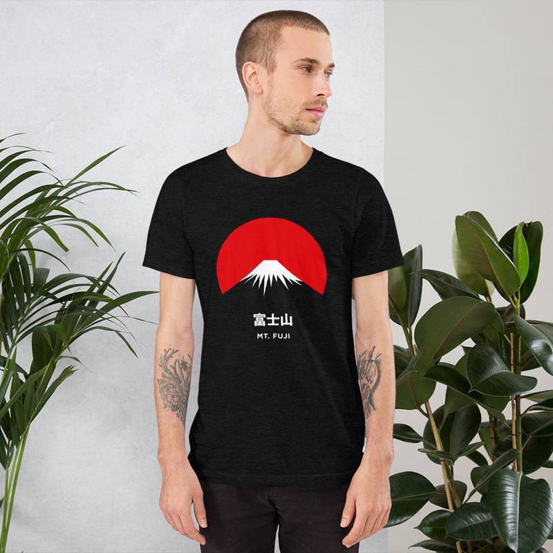 Camiseta Unisex Mt. Fuji Black Heather Hombre