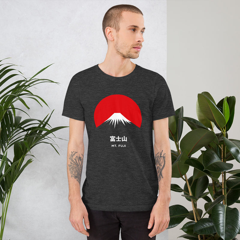 Camiseta Unisex Mt. Fuji Dark Grey Heather Hombre