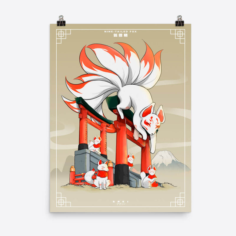 Nine Tailed Fox - Poster - Saki Deizan