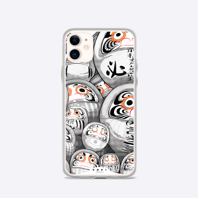 Daruma Black & White - iPhone Case - Saki Deizan