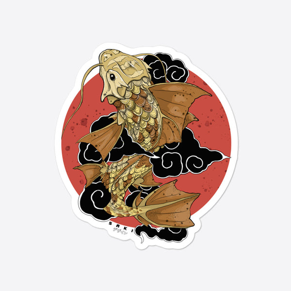 Dragon Koi - Sticker