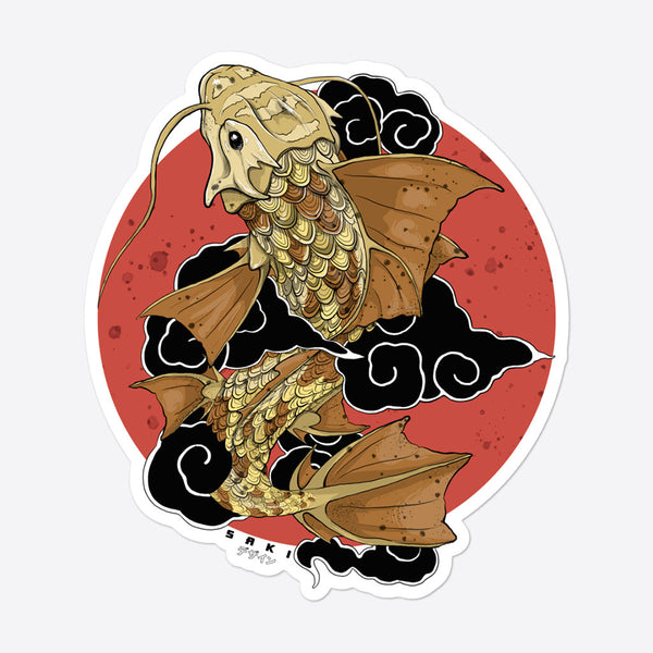 Dragon Koi - Sticker  - Saki Deizan