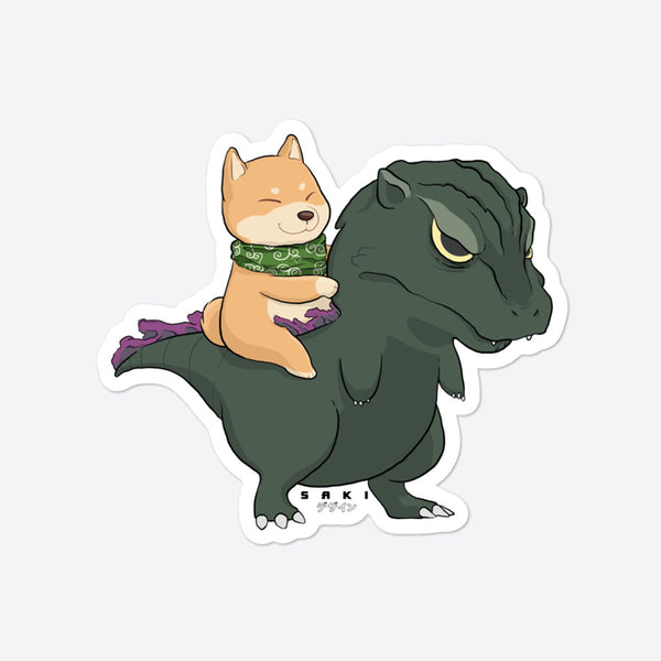 Hachiko vs Godzilla - Sticker