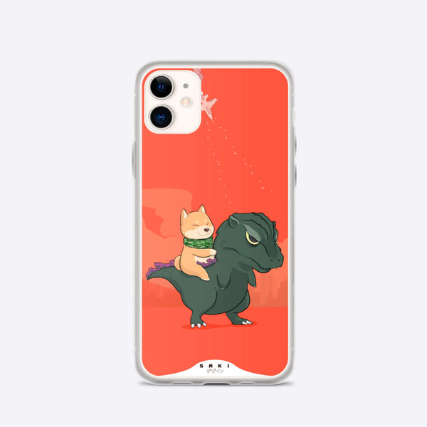 Hachiko vs Godzilla (iPhone Case) - Saki Deizan