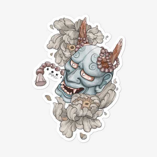 Hannya Mask - Sticker - Saki Deizan