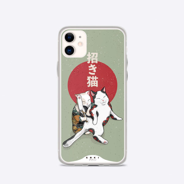 Irezumi Neko tattoo (iPhone Case) - Saki Deizan