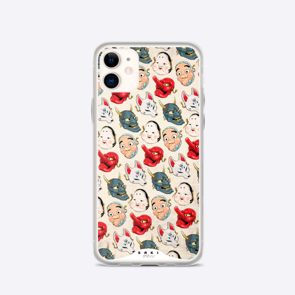 Japanese Masks (iPhone Case) - Saki Deizan