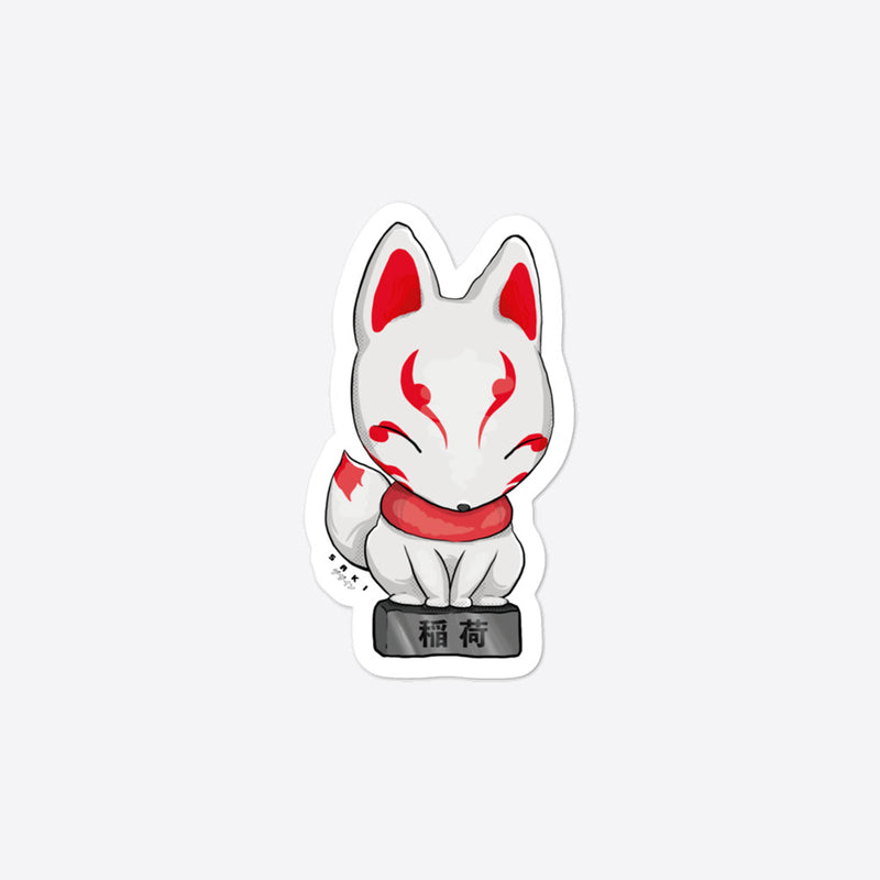Kitsune Figure - Sticker