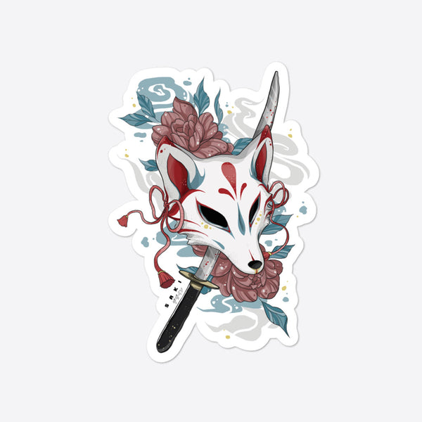 Kitsune Warrior - Sticker