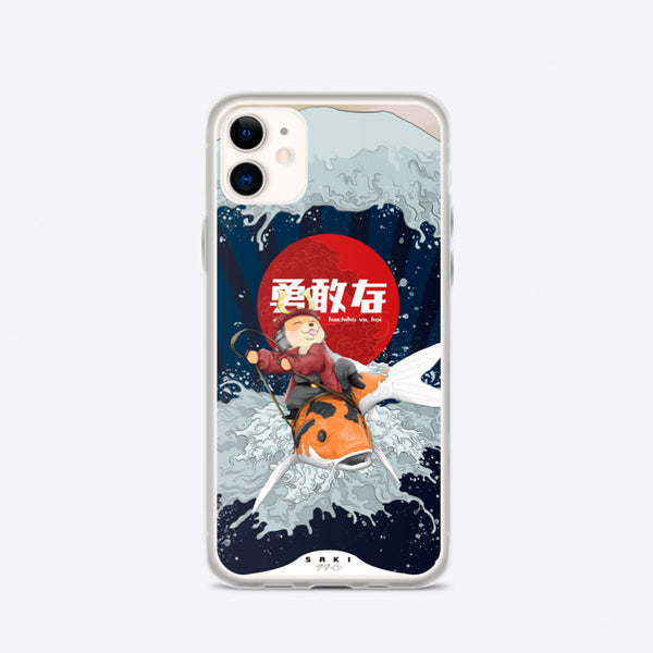 Koi Vs. Hachiko (iPhone Case) - Saki Deizan