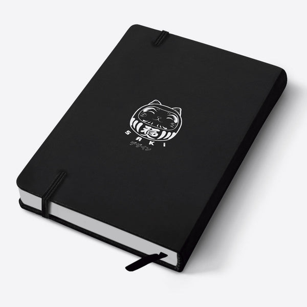 Sushi Pug - A6 Black Notebook