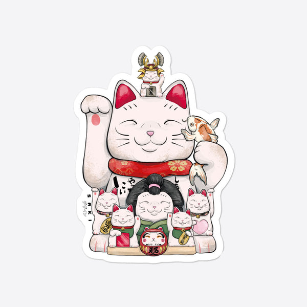 Maneki-Neko Inception - Sticker