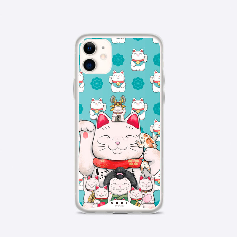 Maneki-Neko Lucky Cat (iPhone Case) - Saki Deizan