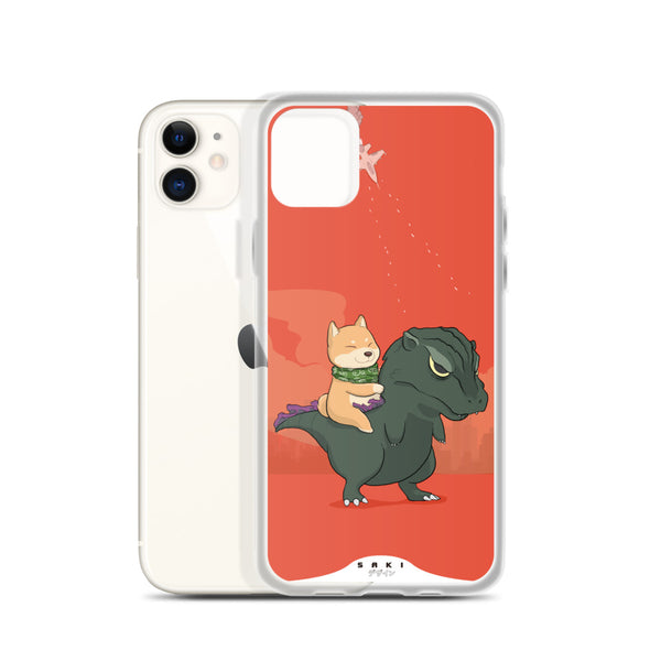 Hachiko vs Godzilla (iPhone Case)