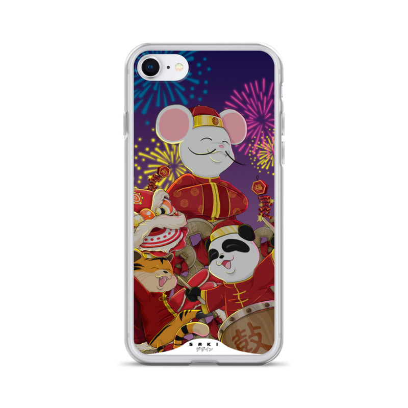 New Year Festivity at night (iPhone Case)