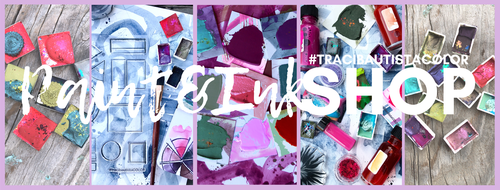 #tracibautistaCOLOR paints + inks